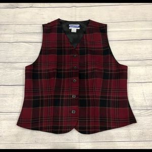 pendleton plaid vest
